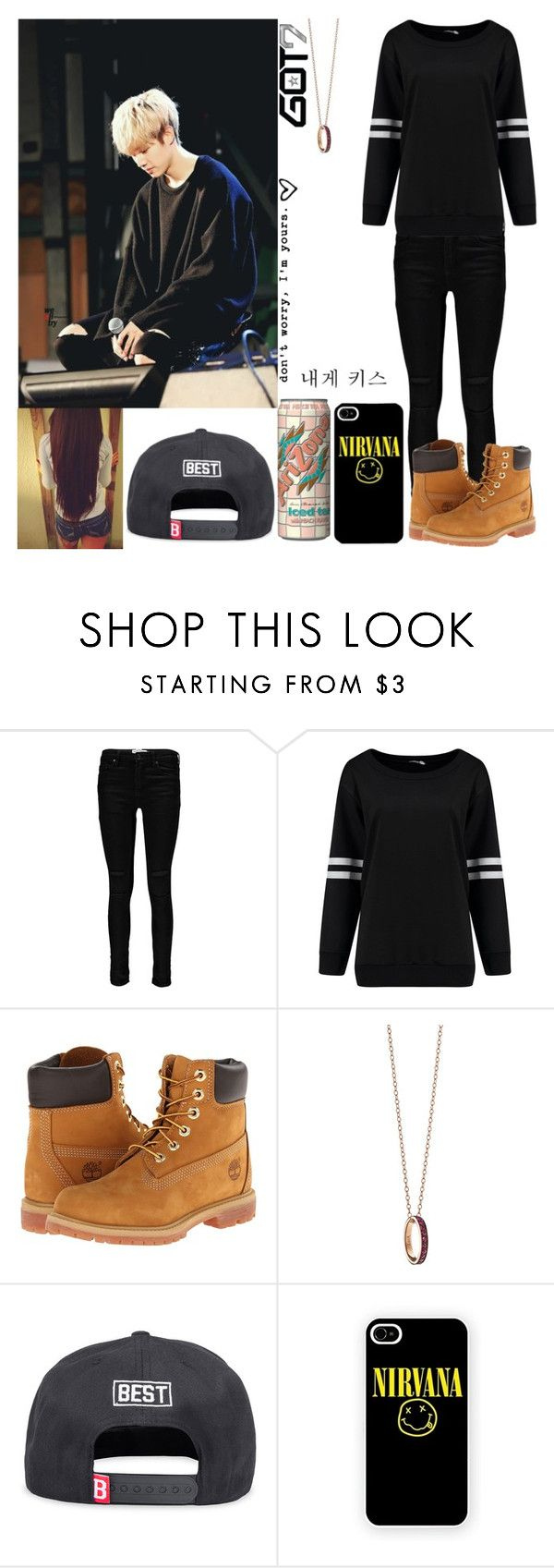 """#390: GOT7 - See The Light (Mark)"" by exoo ❤ liked on Polyvore featuring Boohoo, Timberland, Monica Rich Kosann and Best"