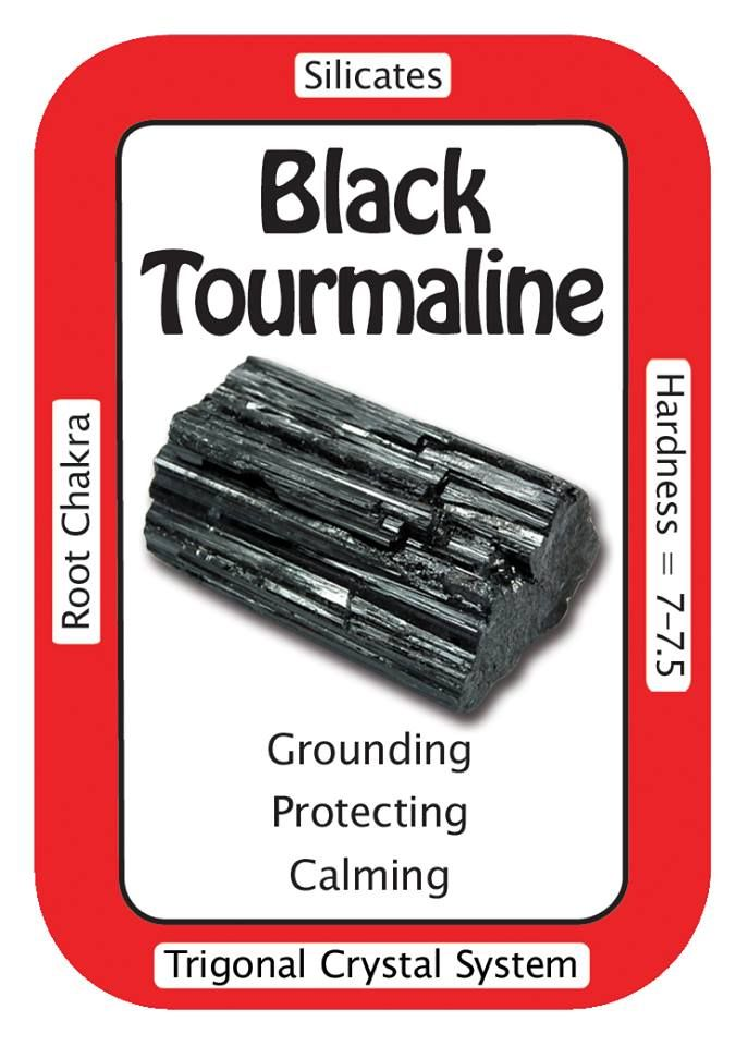 """Crystal Card of the Day: Black Tourmaline, """"I am protected on all levels.""""  Black Tourmaline is used for protecting one's energy field against negative vibrations, and for drawing negative energies away from a person.   You can always use the code HCPIN10 to receive 10% off your order   Black Tourmaline: http://www.healingcrystals.com/advanced_search_result.php?dropdown=Search+Products...&keywords=black+tourmaline"""