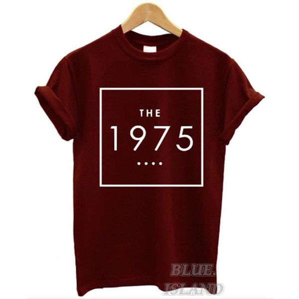 the 1975 t shirt box swag logo facedown rock band music indie men... ($11) ❤ liked on Polyvore featuring tops, t-shirts, shirts, band tees, roll top, vintage style t shirts, rock roll shirts, unisex tops and rock roll t shirts