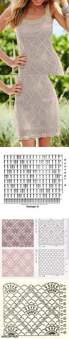 Вязаное платье из Бонприкс - Описание вязания, схемы вязания крючком и спицами | Узорчик.ру
