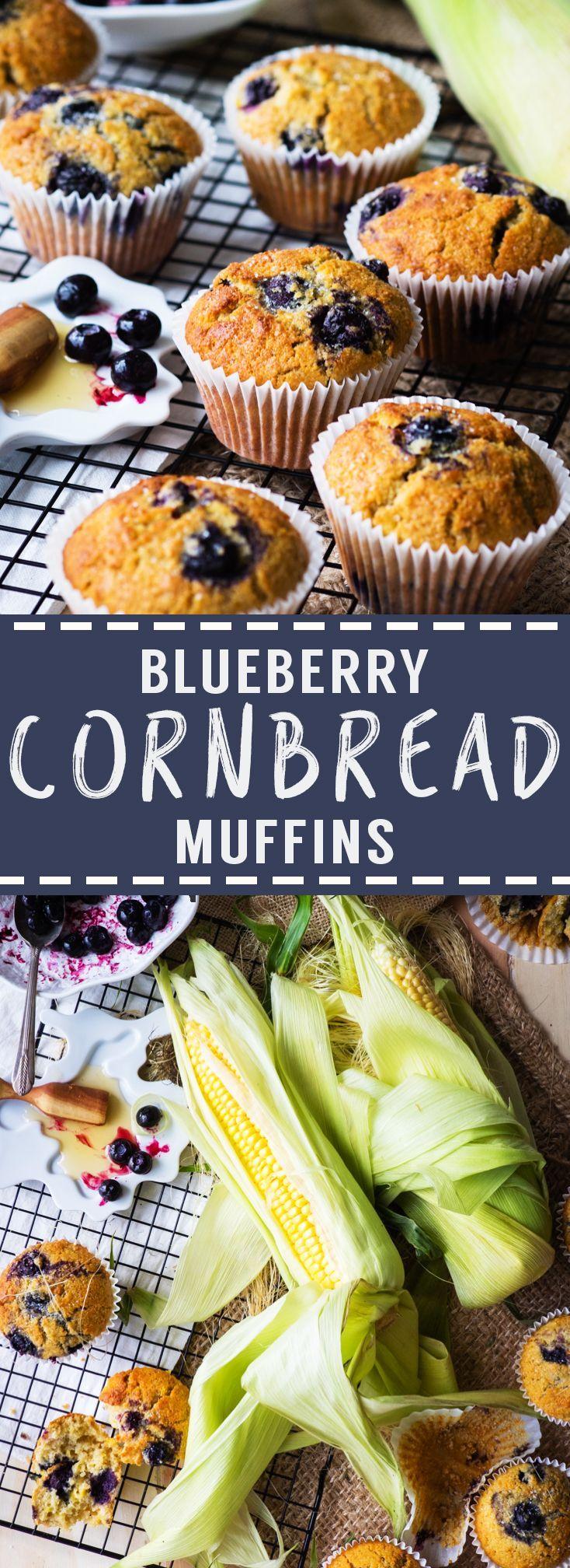 Blueberry Cornbread Muffins | The Worktop