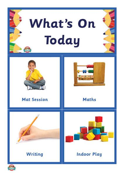 What's On Today? Kinder Schedule/Routine – Splash Resources