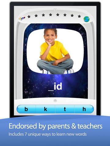 Little Stars - Word Wizard ($0.00) helps kids discover and learn spelling. While your kids will enjoy playing this game, they will be learning new words, their spellings, and phonetic sounds. WHY PARENTS AND TEACHERS LOVE THIS APP ✔ The app is super easy to customize so you and adjust everything to your liking ✔ You can turn individual topics ON or OFF and introduce them based on the player skills ✔ Super easy to use for kids of all ages and all abilities ✔ You can customize everything