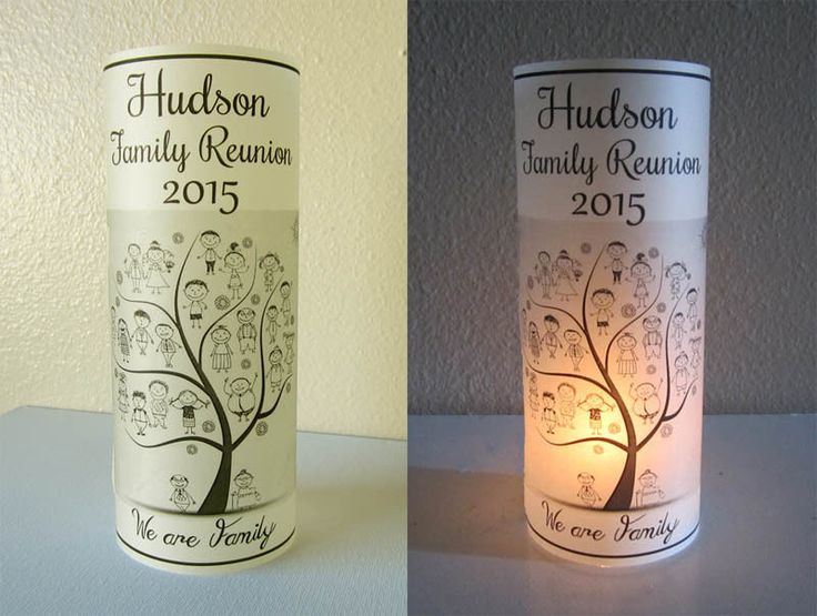 10 Personalized Family Reunion Centerpiece Table Decoration luminaries #FamilyReunion