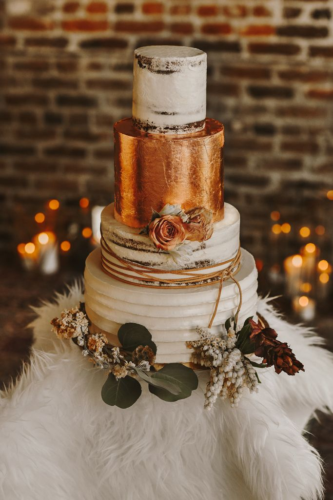 Luxe Bohemian Styled Elopement Winter Wedding Receptions Airy Wedding Decor Wedding Cake Images