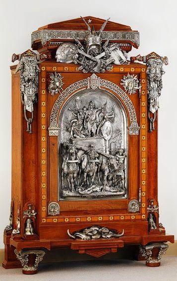 Armoire c  1867 Charles Guillaume Diehl  cabinetmaker  Jean Brandely   designer  Emmanuel. 144 best Fine Antiques images on Pinterest   Antique furniture