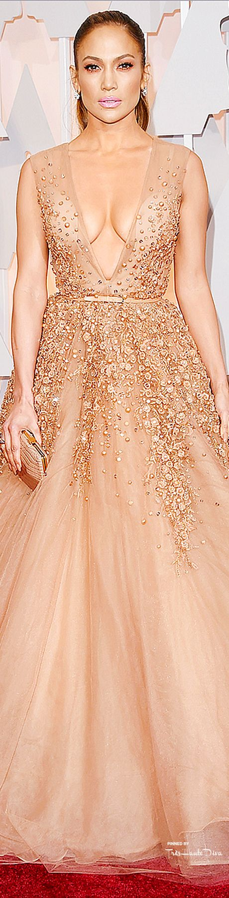 Jennifer Lopez in Elie Saab at the 87th Annual Academy Awards, 2015.