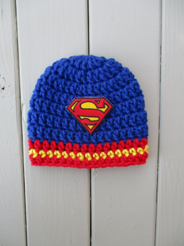 Crochet Superman Hat Newborn Superman Hat Superman Beanie Baby Boy Hat Crochet Baby Hat Baby Boy Newborn Hat Superman Baby Hat Newborn Prop by gkkcrochet on Etsy
