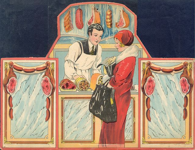 This is an old butcher shop illustration!  Oh back in the day!