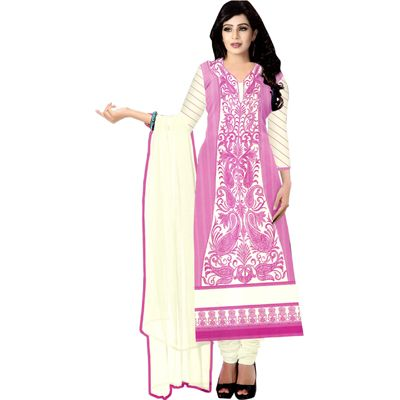 Buy Pari Pink Cotton Dress Material by Agate Business Services Private Limited, on Paytm, Price: Rs.1399?utm_medium=pintrest