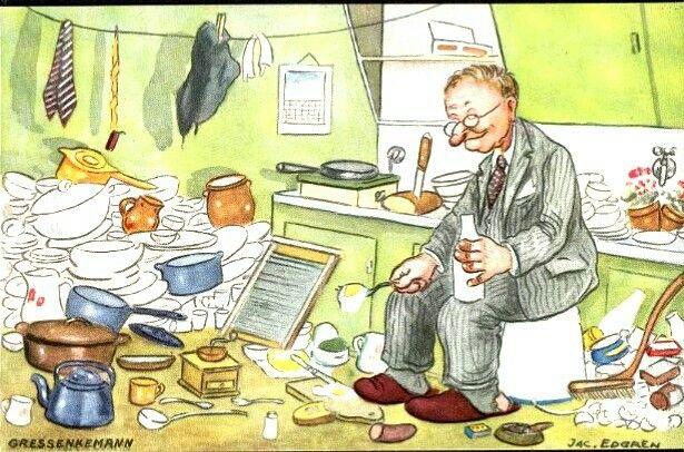 Humorkort Jac. Edgren - Gressenkemann Utg Mittet