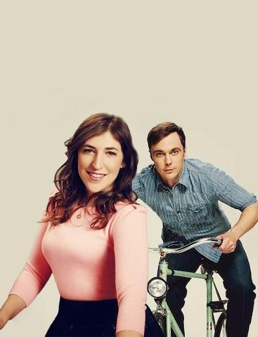 Amy Farrah-Fowler  Sheldon. This pic is reminding me of Miss Piggy  Kermit... must be the pink sweater.
