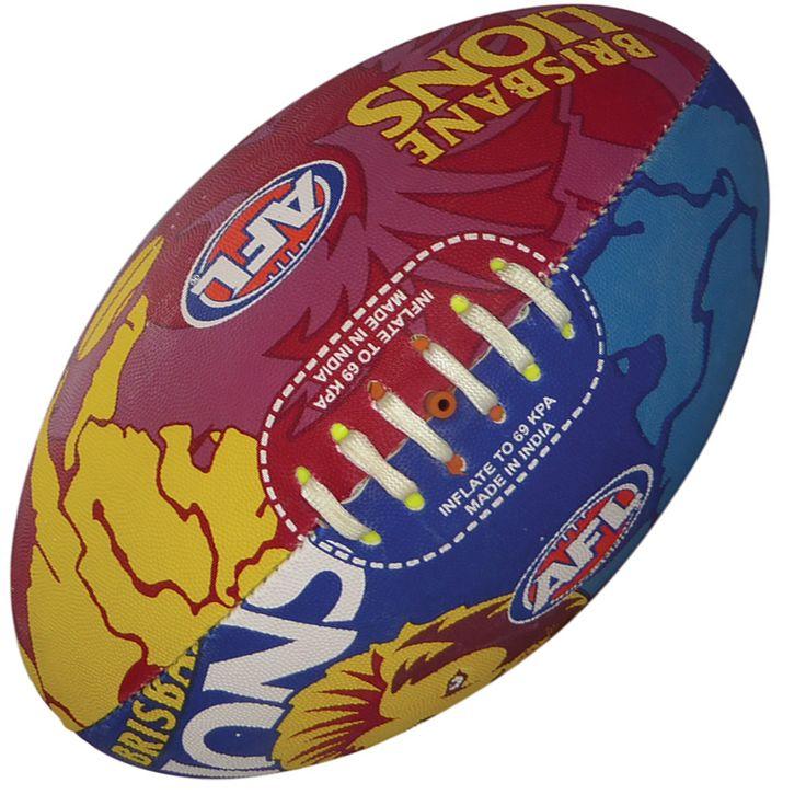 Brisbane Lions AFL Footy Ball by Burley