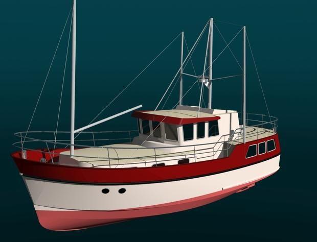 Passagemaker 40/44 Trawler yacht | Branson Boat Design Dutch Barges | Boats I Like in 2019 ...