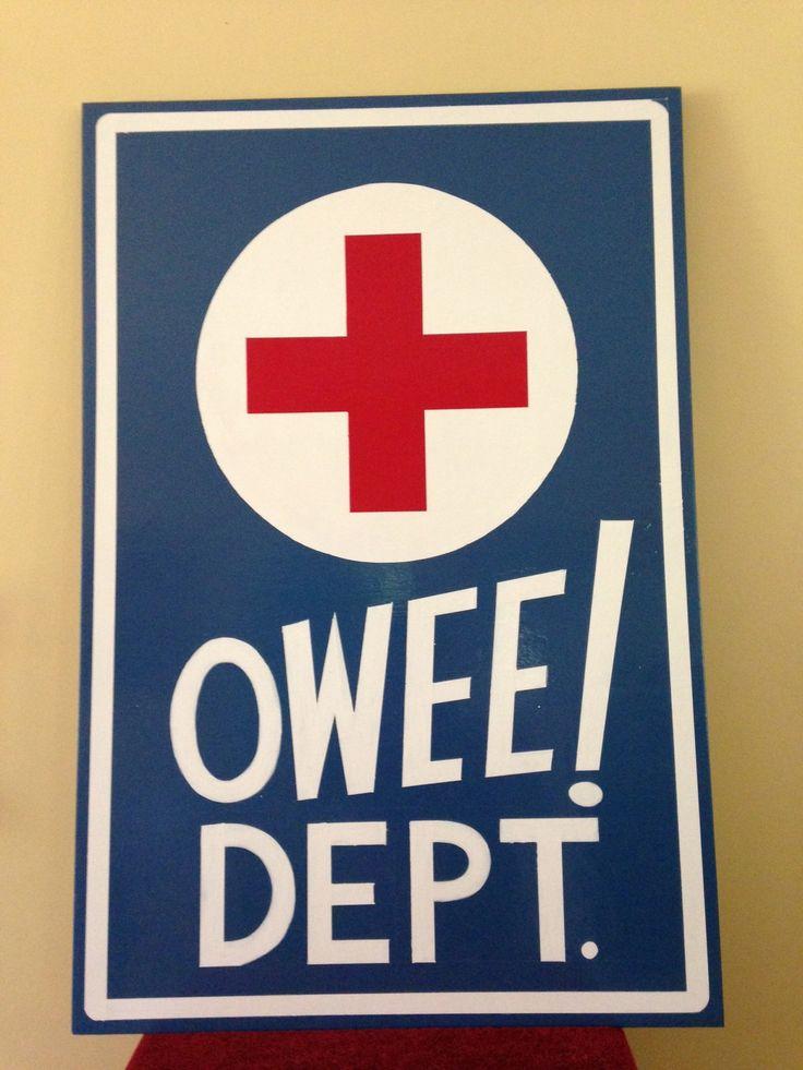 Elementary school nurses office sign