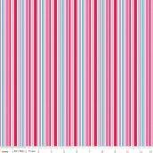 Riley Blake - Lovey Stripes Red