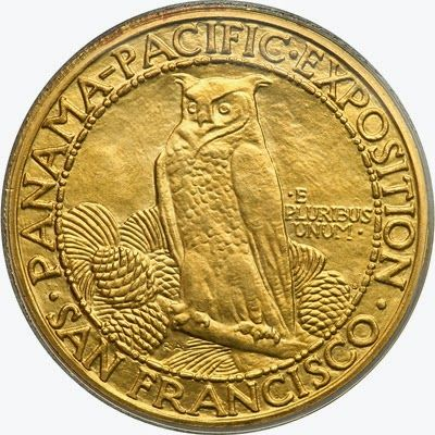 United States commemorative coins - Panama Pacific Exposition 50 Dollars Gold Coin