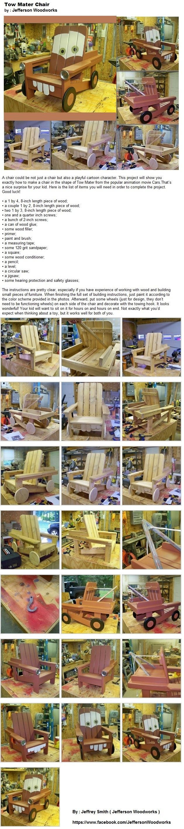 We are making these right here in Edmonton Alberta. Check out our Facebook page www.facebook.com/MadeWithLoveRestoration. Pictures c/oTow Mater Chair by Jeffrey Smith