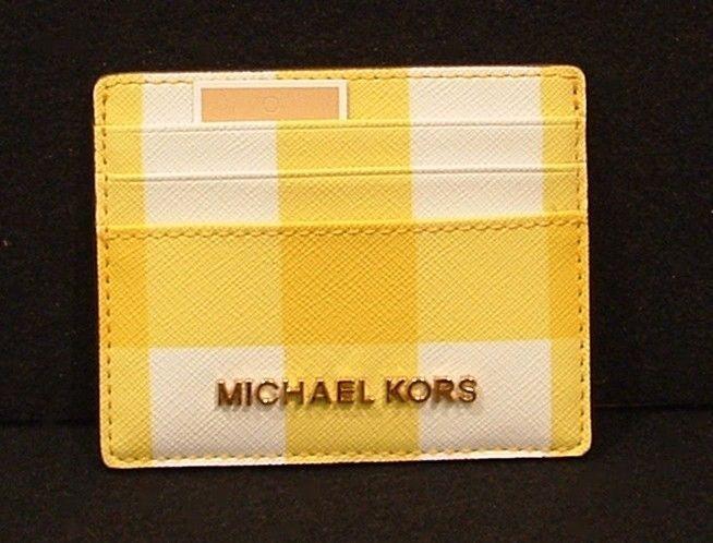 00593d1785d9 Michael Kors Jet Set Travel Large Card Holder Yellow/Optic White/Yellow # MichaelKors #CardHolder