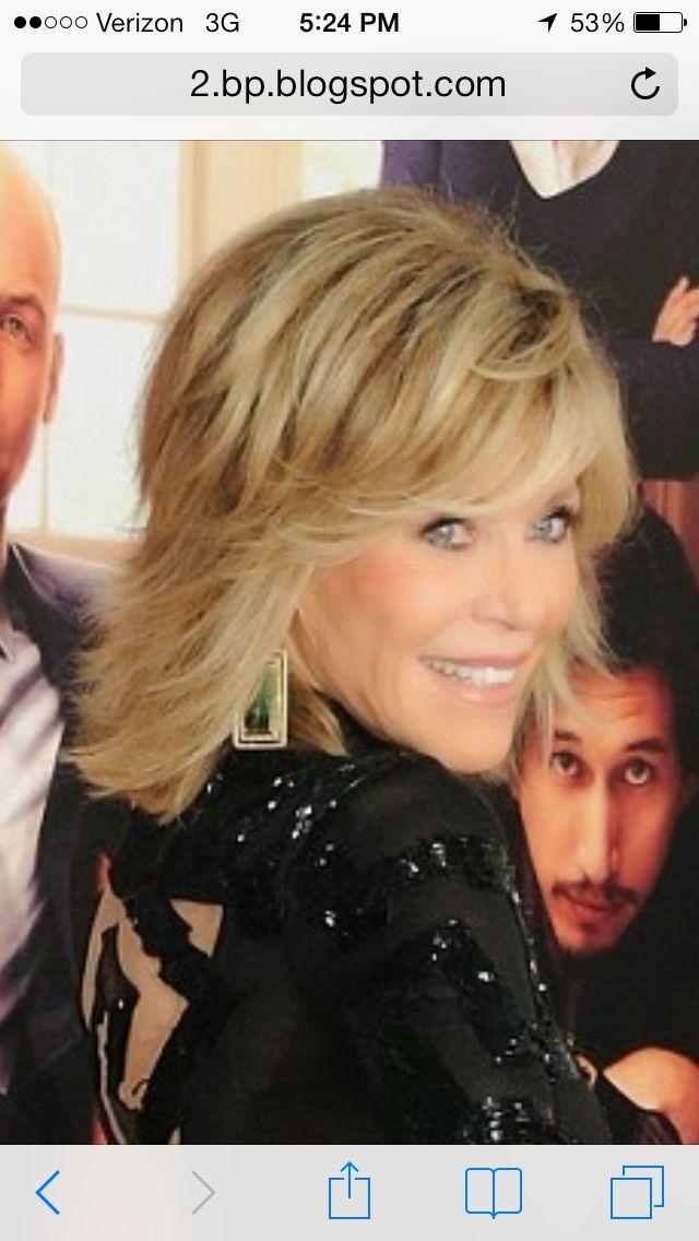 Jane Fonda 2014. Want this hair!