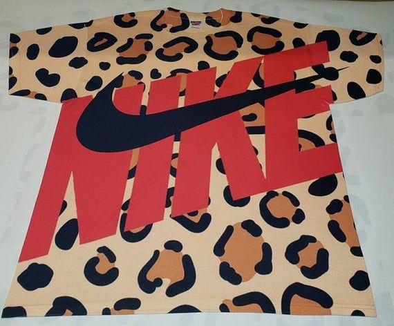 red and cheetah nike