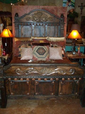 Rustic Bedroom Furniture | Blue River Bed | Cierra Interiors Houston-Austin-Port Aransas