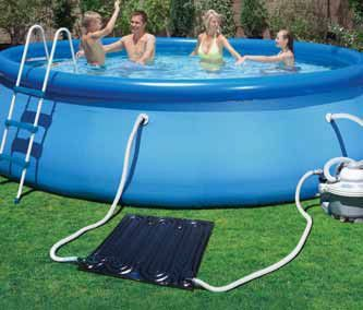FREE HEAT! The Game SolarPro EZ Inflatable Solar Heater for Soft-Side Pools  presented
