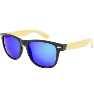 """Ξύλινα Γυαλιά Ηλίου Polarized Wayfarer """"Tropical""""-BLUE-e-chap"""