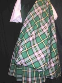 Aboyne with green vest from the back #breton #green #tartan