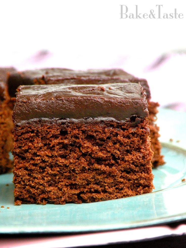 Bake&Taste: Ciasto czekoladowe a la piernik z polewą / ganache...