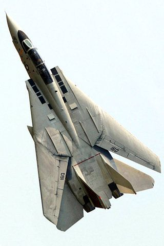 F14 Tomcat U.S.fighter with sagittate position of wings #airforce #aircrafts…