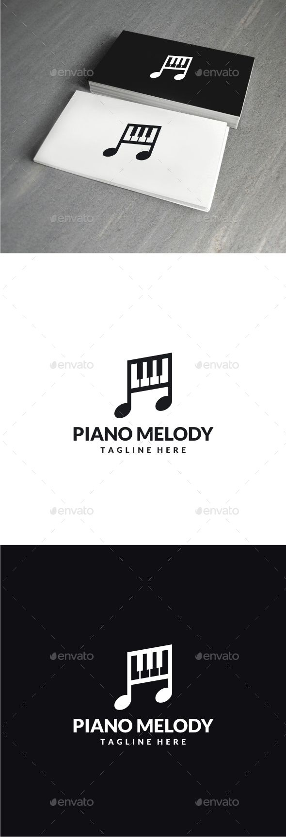 Piano Melody Logo Template Vector EPS, AI. Download here: http://graphicriver.net/item/piano-melody-logo/13984172?ref=ksioks