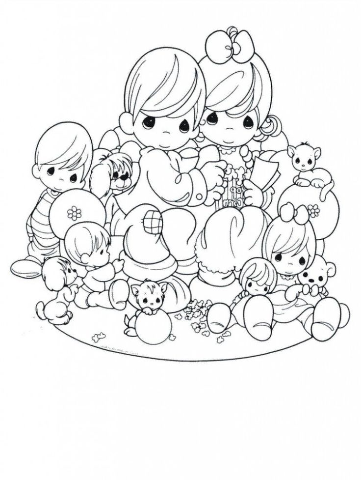 precious moments coloring pages love