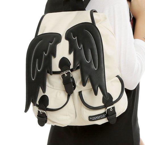 Castiel Wings Slouch Backpack - $36 ⋆ Supernatural Gifts!