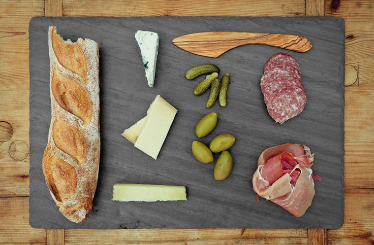 Brooklyn Slate Lookbook- slate plates or serving platters (carpaccio on slate is beautiful)