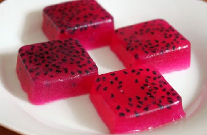 Red Dragon Fruit Jelly