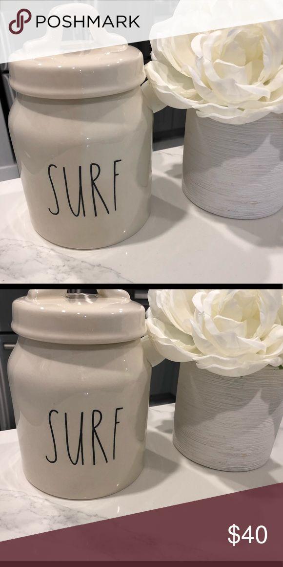 "LIMITED & RARE!! New Rae Dunn Cookie Jar!! ""SURF"" LIMITED & RARE!! New Rae Dunn Cookie Jar!! ""SURF"" Rae Dunn Other"