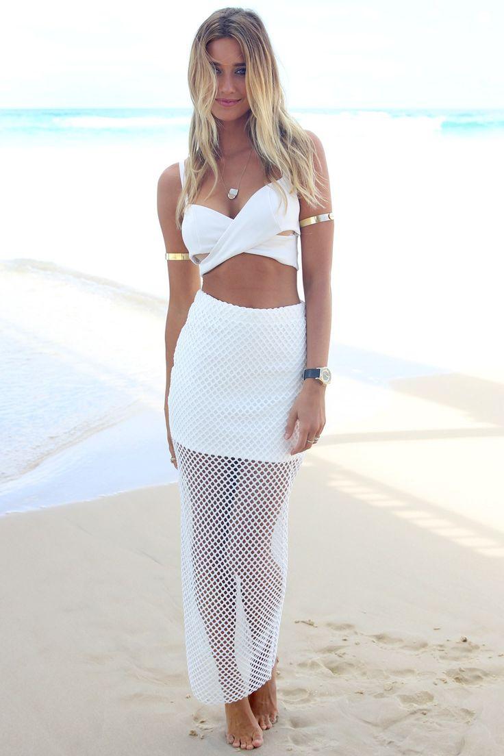 13 best Pretty White Maxi Skirt images on Pinterest | White maxi ...