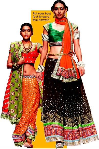 Unique Patna Think Navaratra, Think Dandiya! For, The Gujarati Folk Dance Has Become A Popular Part Of Navaratra  The Traditional Chaniyacholi Gujarati Ghaghra Dress For Women And Kedia Dhoti And Frock For Men Are Available For Hire
