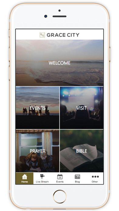 Grace City Church's custom church app built by Tithe.ly - #churchapps.  Get a custom church app for you church - $0 setup and $0 for first six months!  http://get.tithe.ly/mobile-church-app/  #mobileapp #churchapp #mobiledesign #appdesign #appsforchurches #churchapps