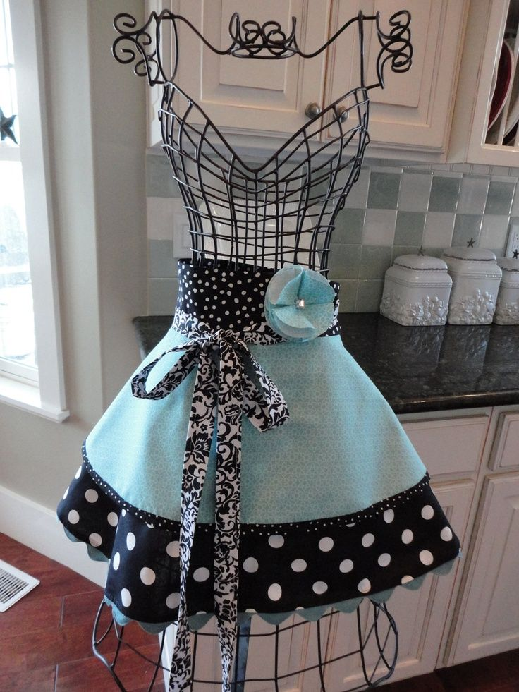 "half aprons for women | ... 4RetroSisters Original ""Annabelle"" Women's Half Apron ... 