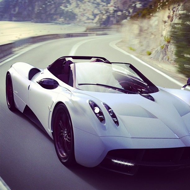 The Incredible Pagani Huayra - who would love to take this baby for a coastal ride?