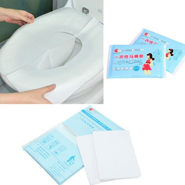 10pcs Maternity Disposable Paper Toilet Seat Covers Travel