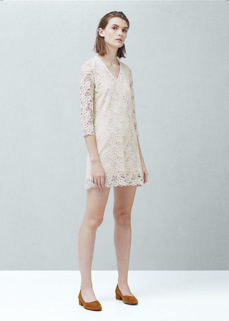 Robe guipure - Robes pour Femme   MANGO France