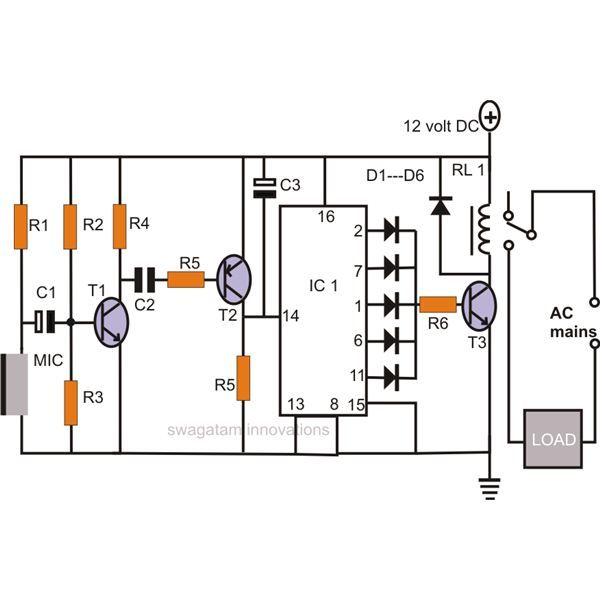 Make a Simple Electronic Clap Switch Circuit      Want to build a simple clap  switch circuit  that will toggle any load in response to ...