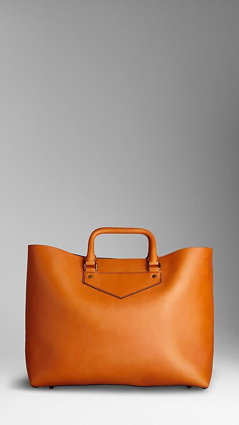 Burberry large leather landscape tote
