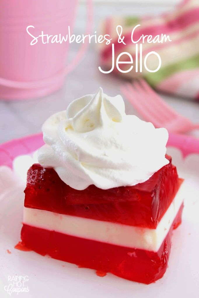 Strawberries & Cream Jello
