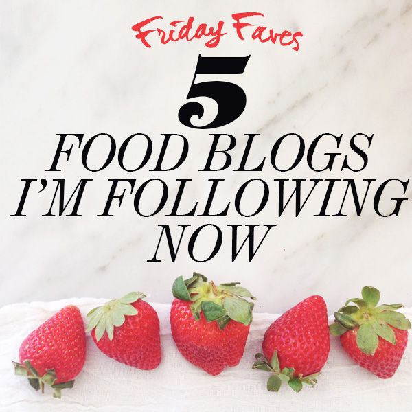 5 Food Blogs I'm Following Now and you should be too! on foodiecrush.com #foodblogstofollow