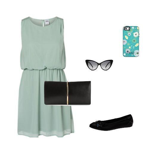 #MyStyle  Case #OtterBox #SymmetrySeries Eden Dress Vero Moda Clutch bag NINA RICCI  Ballet Lily Lace  Glasses Tom Ford