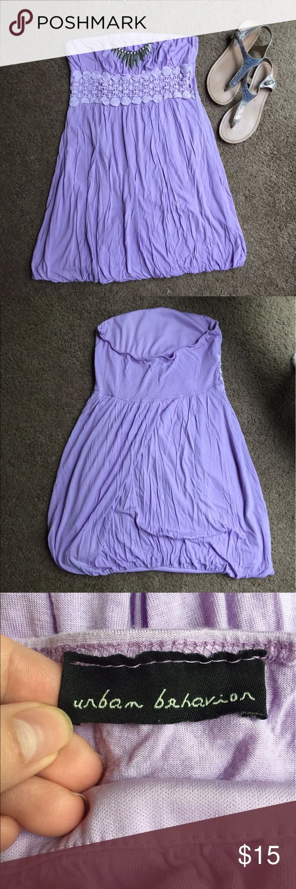 Urban Behavior Lilac Dress Good condition! Such a cute little lilac dress! Perfect for attending all those up coming wedding/baby showers! Urban Behavior Dresses Strapless